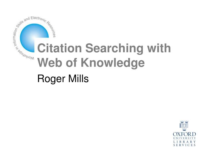 citation searching with web of knowledge n.