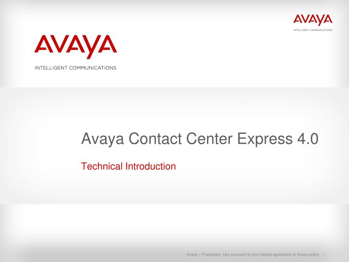 avaya contact center express 4 0 n.