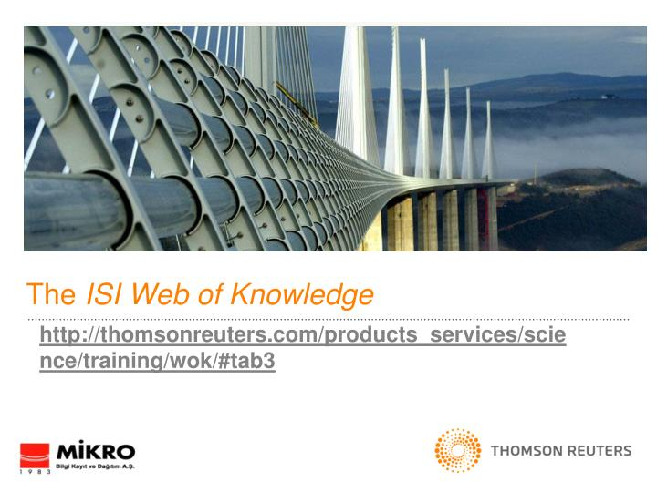 the isi web of knowledge n.