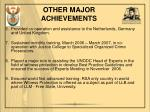 other major achievements1