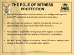 the role of witness protection