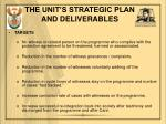 the unit s strategic plan and deliverables2