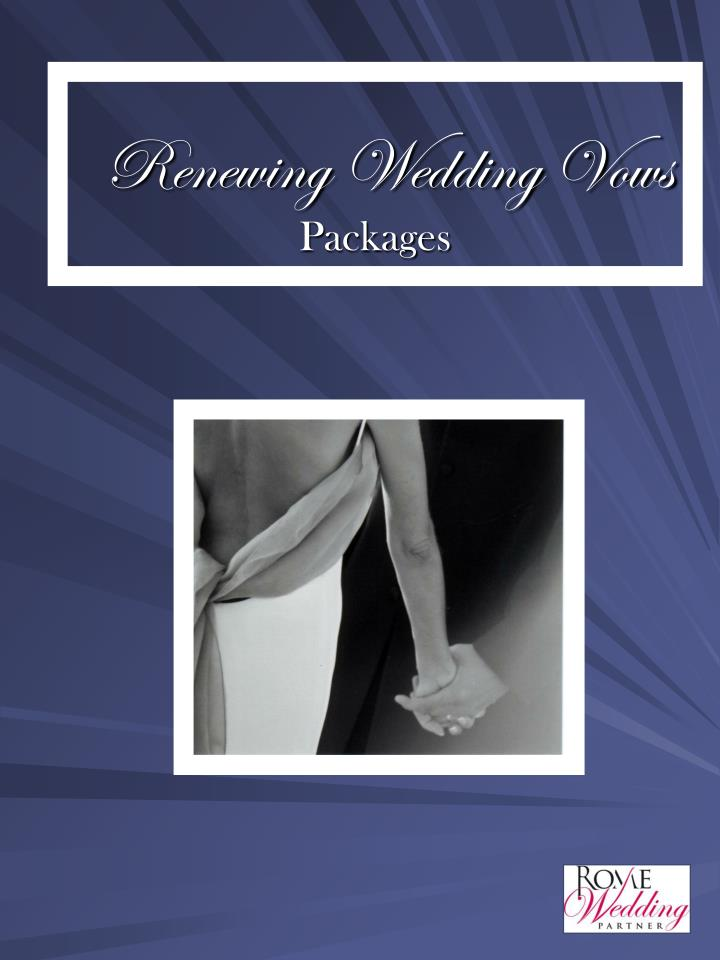 renewing wedding vows packages n.