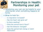 partnerships in health monitoring your pet