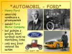 automobil ford