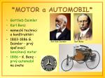 motor a automobil