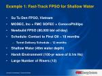 example 1 fast track fpso for shallow water