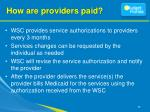 how are providers paid