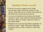 southern states secede