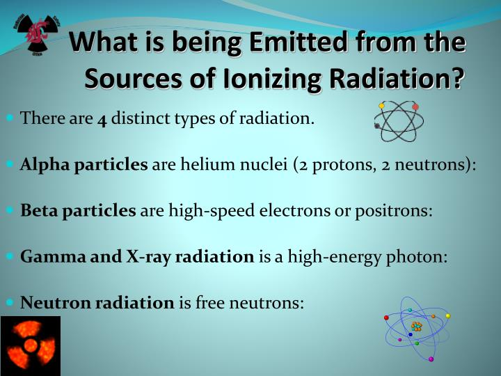 What is being Emitted from the Sources of Ionizing Radiation?