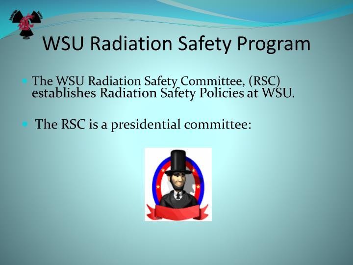 Wsu radiation safety program1