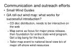communication and outreach efforts