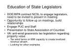 education of state legislators1
