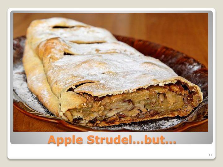 Apple Strudel…but…