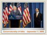 conservatorship of gses september 7 2008
