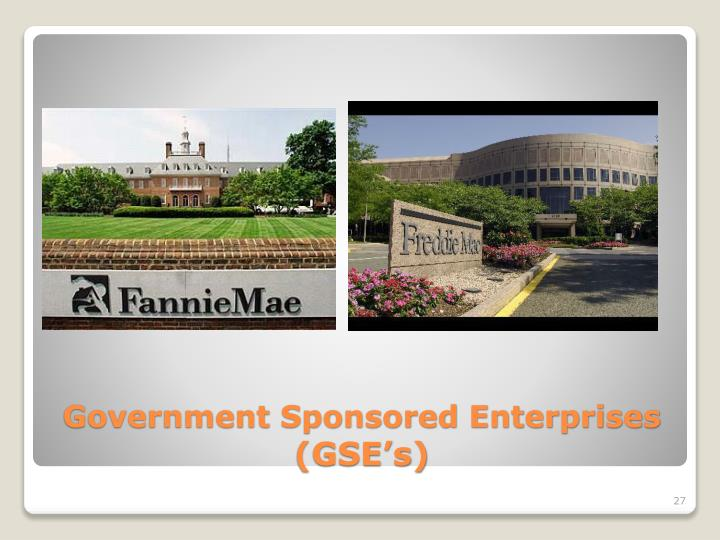 Government Sponsored Enterprises
