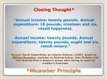 micawber principle