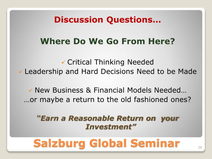 Discussion Questions…