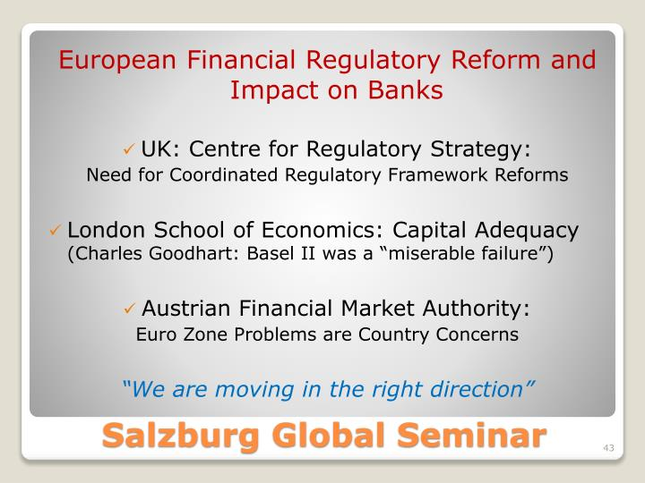 European Financial Regulatory Reform and Impact on Banks