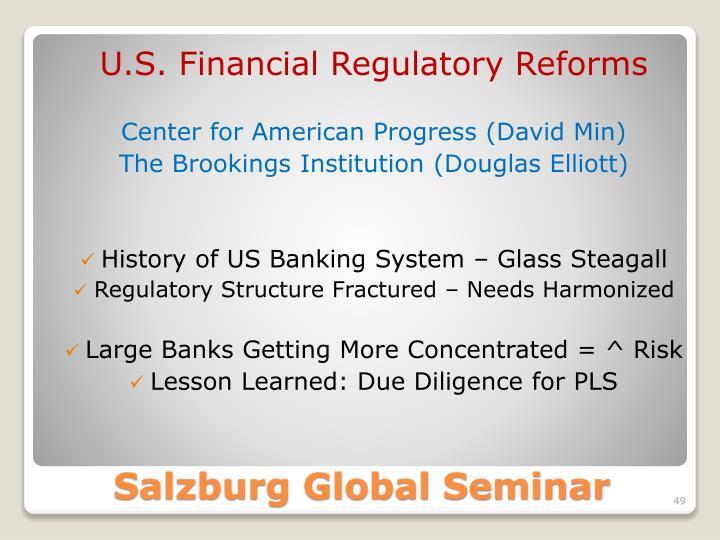 U.S. Financial Regulatory Reforms