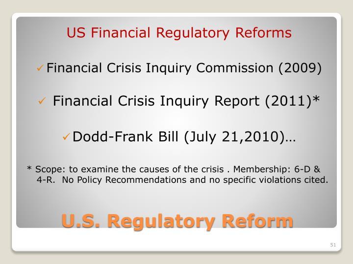 US Financial Regulatory Reforms