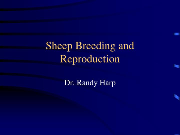 sheep breeding and reproduction n.