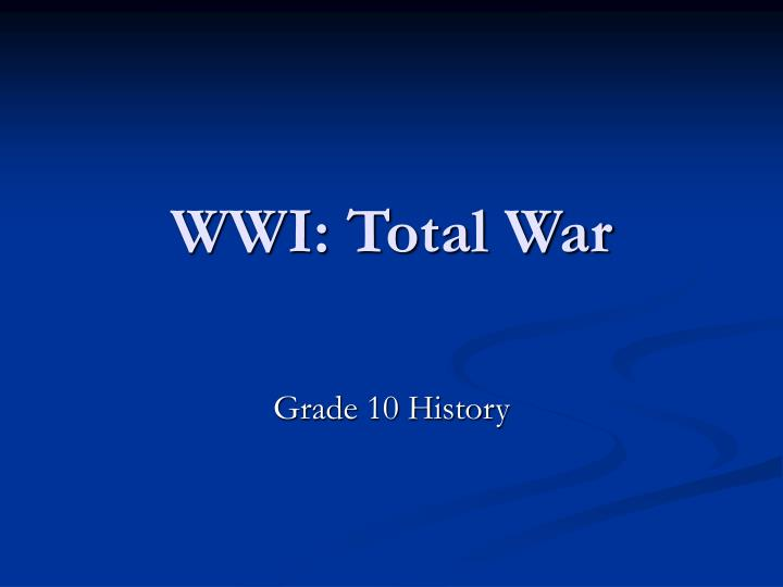 wwi total war n.