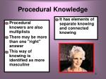 procedural knowledge1