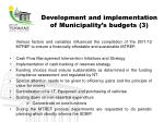 development and implementation of municipality s budgets 3