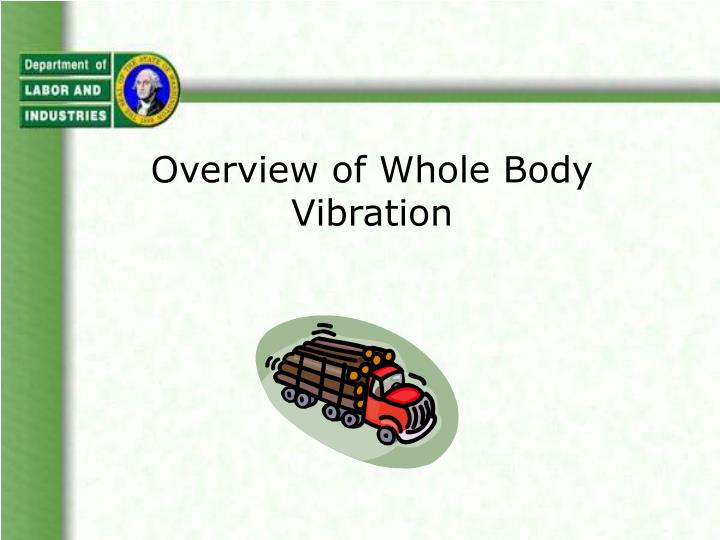 overview of whole body vibration n.