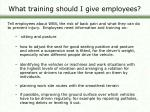 what training should i give employees