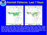 rainfall patterns last 7 days