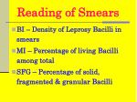 reading of smears