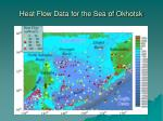 heat flow data for the sea of okhotsk