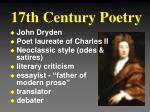 17th century poetry1