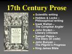 17th century prose