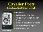 cavalier poets lovelace suckling herrick
