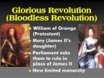 glorious revolution bloodless revolution