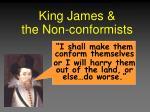 king james the non conformists