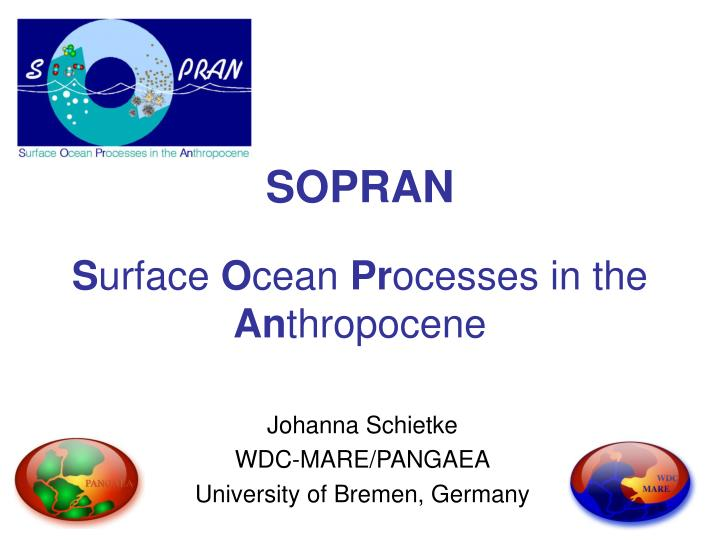 sopran s urface o cean pr ocesses in the an thropocene n.