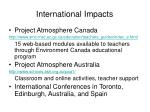 international impacts