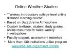 online weather studies