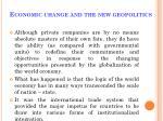 economic change and the new geopolitics