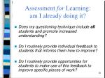 assessment for learning am i already doing it1