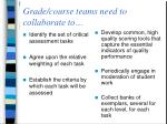 grade course teams need to collaborate to