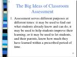 the big ideas of classroom assessment3