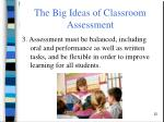 the big ideas of classroom assessment5