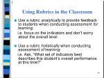 using rubrics in the classroom