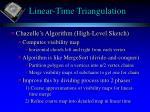 linear time triangulation1