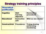 strategy training principles
